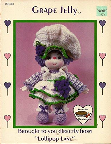 Grape Jelly - Lollipop Lane - Crochet Doll Body & Outfit (Dumplin Designs - #CDC403)