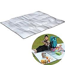 Ezyoutdoor Foil EVA Sleeping Mattress Mat Pad for Camping Hiking Picnic 1.52 m/59.078.7 Inch Inch Silver , 2 Persons Mat Moisture-proof Pad 21.5m