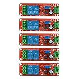 Relay Module, UEB 2pcs/5pcs DC 12V Delay Relay Shield NE555 Timer Switch Adjustable Module ... (12V -- 5Pcs)