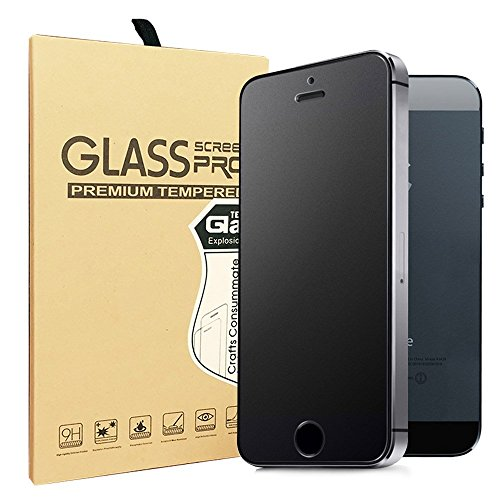 Iphone Anti Glare Screen Protector - Sonto iPhone 5 5S 5C SE Matte Tempered Glass Screen Protector Anti-Fingerprint/Anti-Glare/Ultra thin/Touch Smooth (iPhone 5/SE)