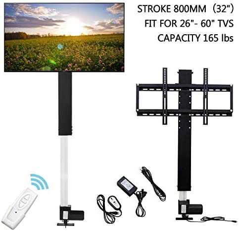 FISTERS LCD Motorized TV Mount Lift with Remote Control,Adjustment TV Mount Lift,Bracket Stroke 32 Fit for 32 -70 TV