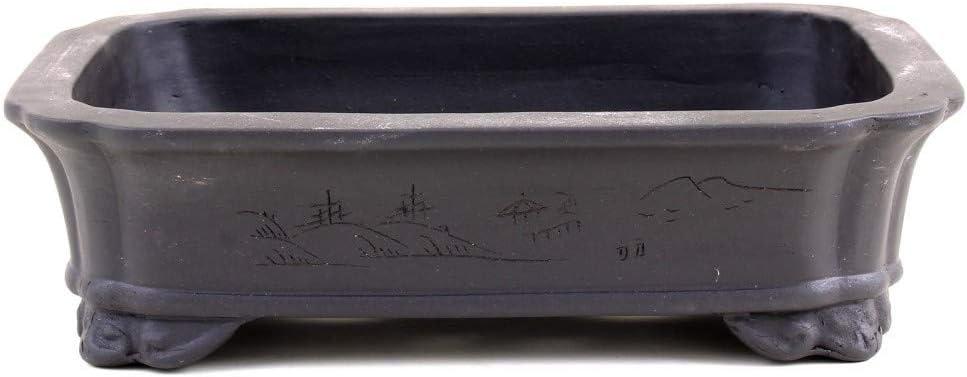Schale Shinjuku Dunkelbraun mit Motiv 30116 Bonsai 30 x 22 x 8 cm eckig