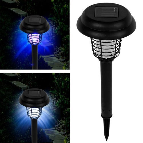 B06ZZSMHYG Solar Powered LED Light Pest Bug Zapper Insect Mosquito Killer Lamp Garden Lawn 51LxTMbdUqL