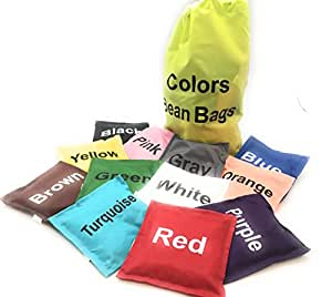 Colors Bean Bags Assorted 12 pc 5in by Oojami