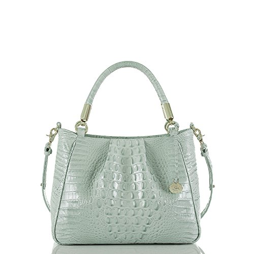 NEW AUTHENTIC BRAHMIN RUBY SATCHEL LEATHER CONVERTIBLE HANDBAG (Sea Glass Melbourne) (Sea Glass) by Brahmin