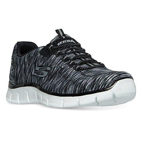 Skechers Women 's Relaxed Fit Empire Game sulla scarpa da passeggio, nero / bianco