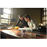 Haven Lucas Bryant as Nathan Wuornos Sitting at Desk with Fellow Actor 8 x 10 inch photo