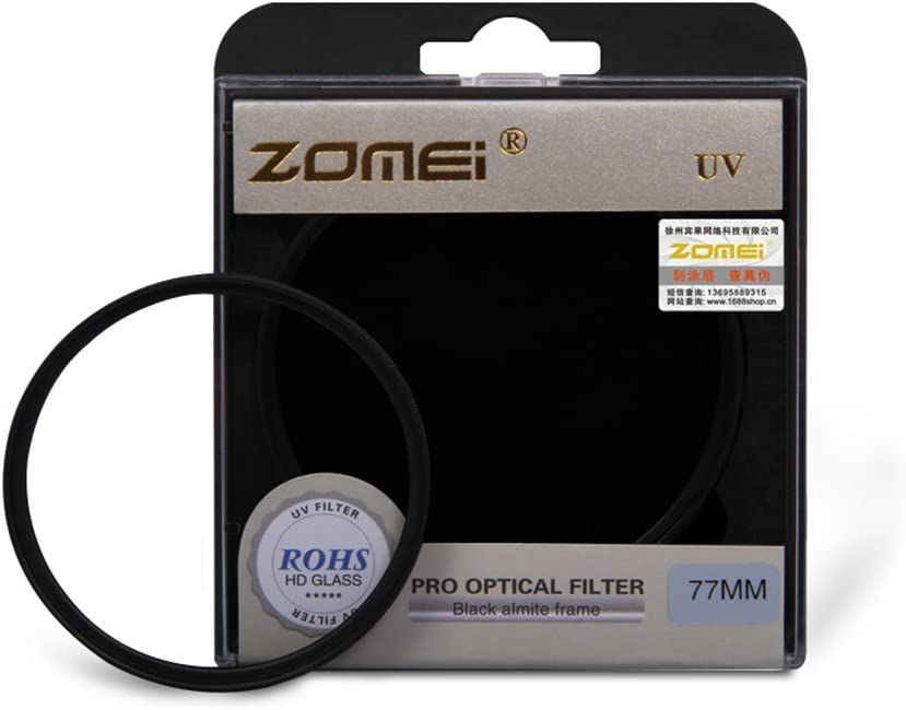 Zomei 77mm Genuine Ultra-Violet UV Filter Lens Protector for Canon Nikon camera
