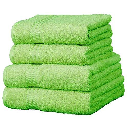 Linens Limited Supreme - Asciugamano mani - 100% cotone egiziano - Verde lime - 50 x 85 cm