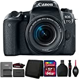Canon EOS 77D 24.2MP DSLR Camera with 18-55mm IS STM Lens and Accessory Bundle