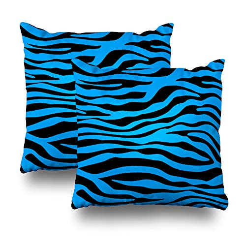 LALILO Set of 2 Throw Pillow Covers, Deep Sky Blue for sale  Delivered anywhere in USA