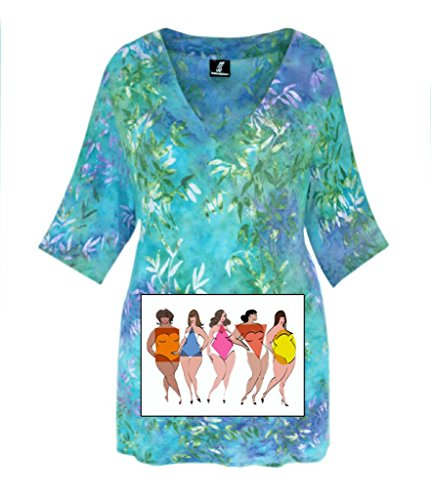 Tunic Top, PLUS Size Handmade Clothes, Cotton Jersey Tunic for Full Figures, XL 1X 2X