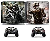 Cosines PS4 Slim Stickers Vinyl Decal Protective Console Skins Cover for Sony Playstation 4 Slim and 2 Controllers COD Call of Duty Soldier Army War