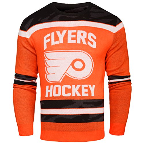 Philadelphia Flyers Ugly Glow In The Dark Sweater - Mens - Mens Medium by FOCO