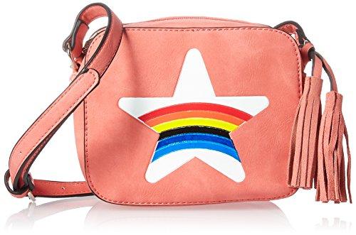 Nikky Women's Soft Pink Rainbow Print Mini Crossbidy Cross Body Bag, One Size