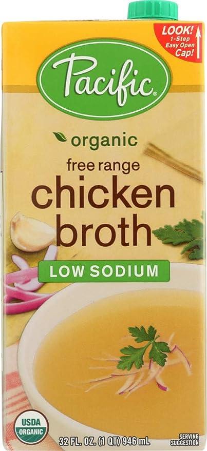 Amazon Pacific Foods Organic Chicken Broth Free Range Low