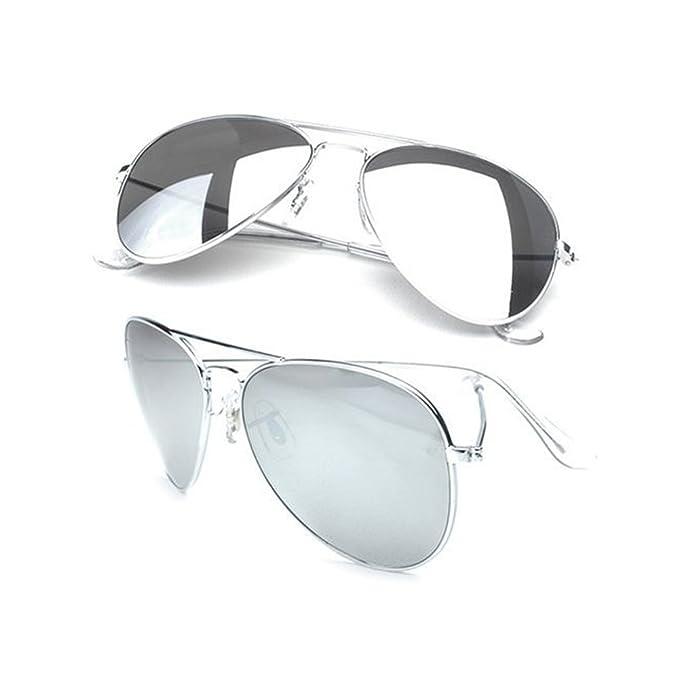 Amazon.com: Aviator anteojos de sol con lentes de espejo ...