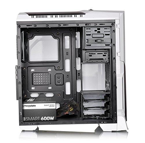 Thermaltake VERSA N21 Monochrome Mid Tower Gaming Computer Case with SMART 80 Plus 600 Watt ATX/EPS Power Supply Bundle - White by Thermaltake (Image #2)