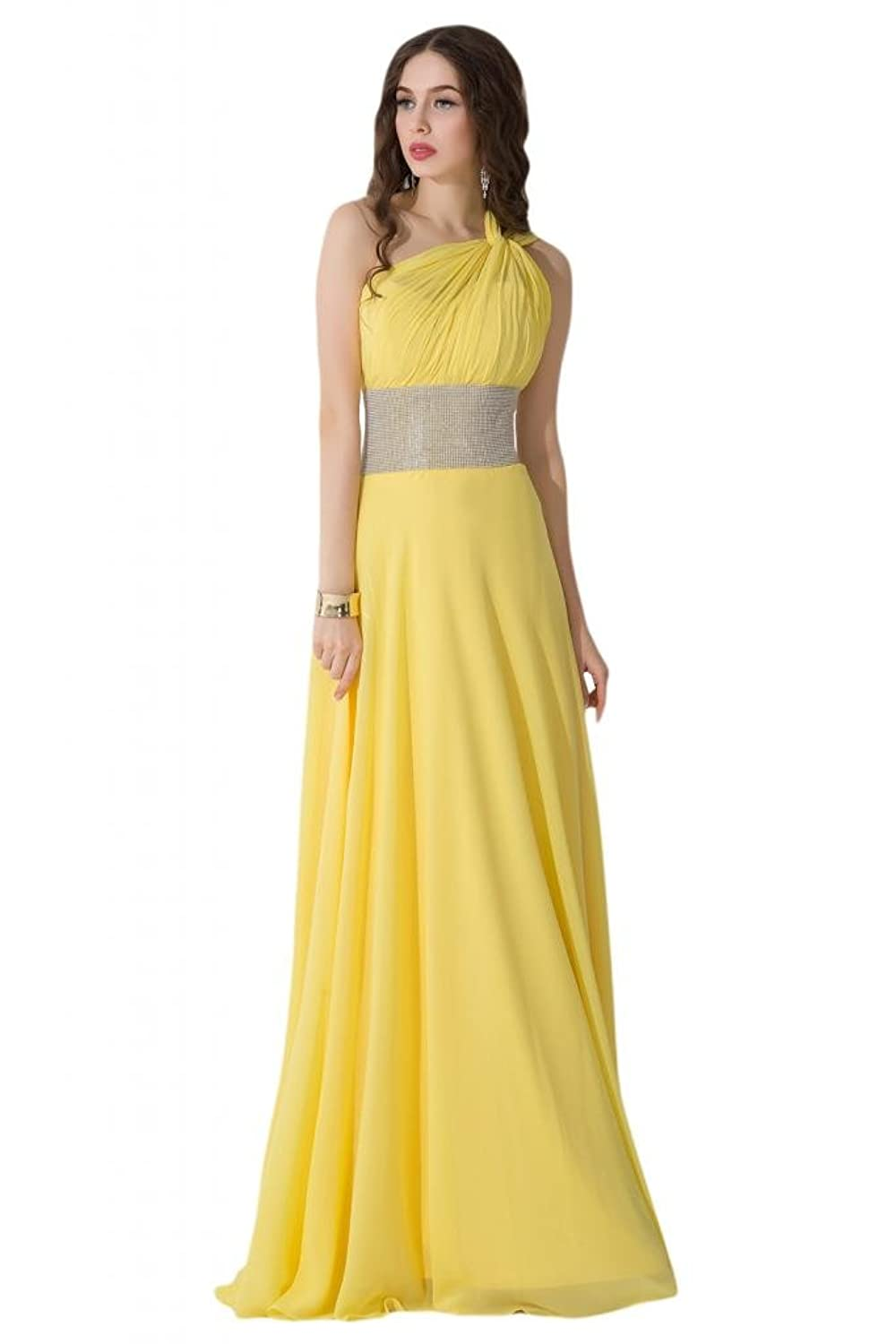 Sunvary Romantic One-shoulder Bridesmaid Dresses Maxi Party Gowns Long Prom Dress