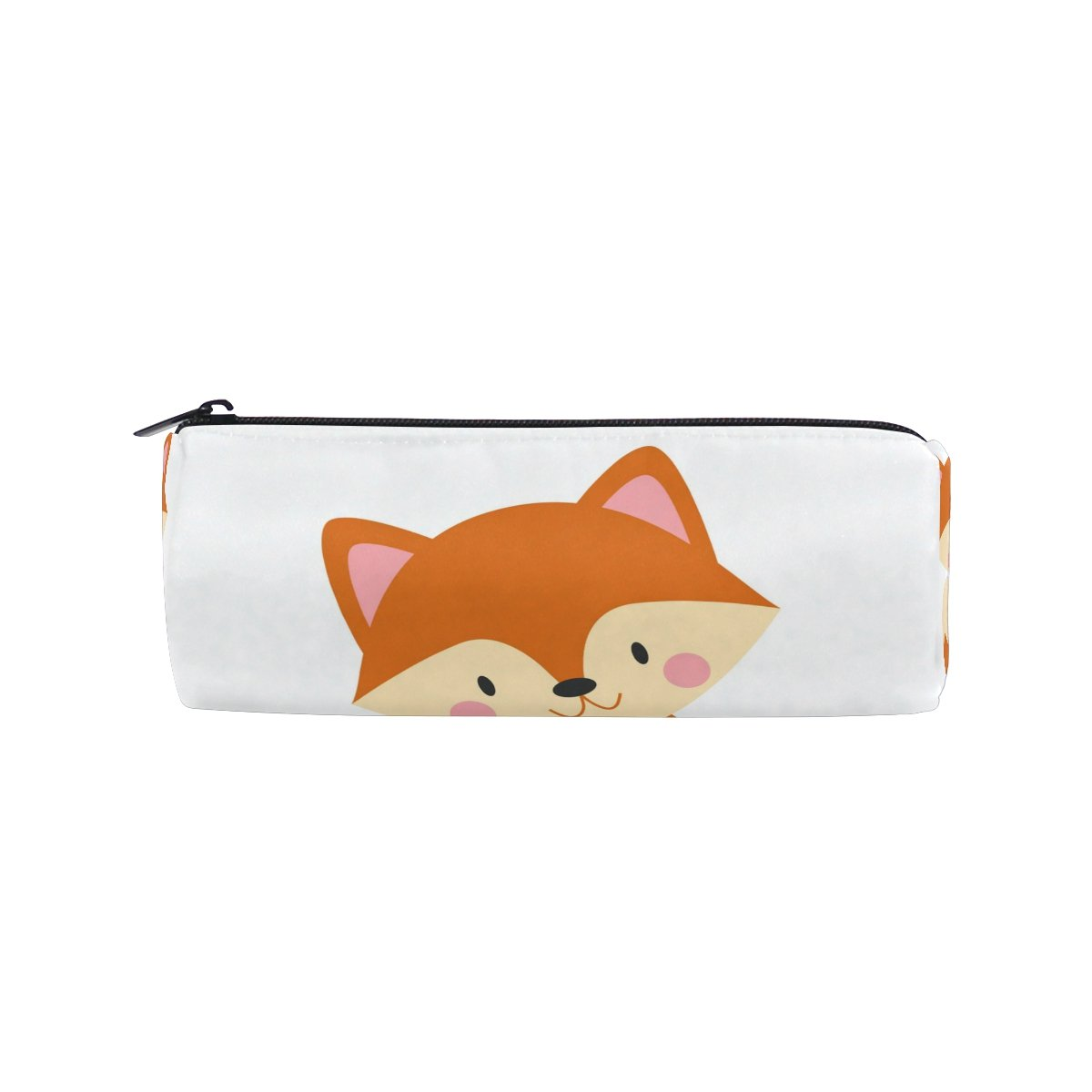 Cooper Girl Cute Fox Pencil Bag Pen Case Students Stationery Pouch Zipper Bag for Girls Boys Kids