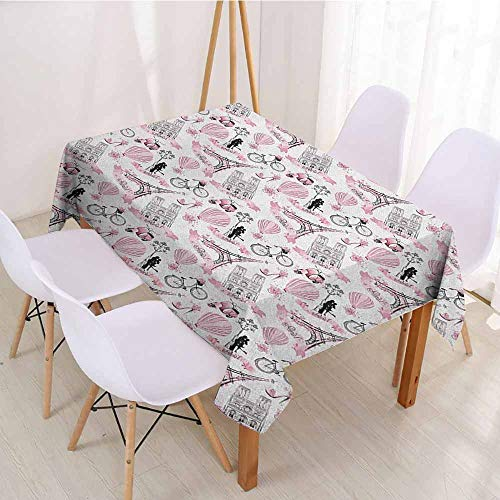 ScottDecor Printed Tablecloth Wrinkle Free Tablecloths W 52