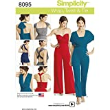 Simplicity Creative Patterns Simplicity PATTERNS Misses' Knit Wrap, Twist & Tie Jumpsuit and Romper Size: A (XXS-XS-S-M-L-XL-XXL))) , 8095