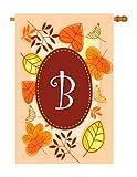 Breeze Decor H130028 B Initial Fall Harvest & Autumn Vertical House Flag, 28″ x 40″, Multicolor Review