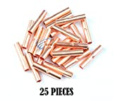 8 GA AWG Copper Crimp Butt Connectors Battery Wire Cable Install Bay 25 Pieces