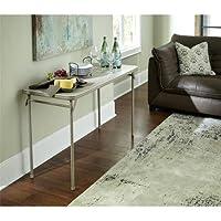 Cosco 20 x 48 Vinyl Top Folding Table, Antique Linen