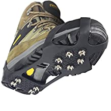 YUEDGE 10 Steel Studs Ice And Snow Antiskid Crampons Spikes Grips traction Cleats