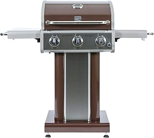 Kenmore 3 Burner Outdoor Patio Gas BBQ Propane Grill in, Mocha