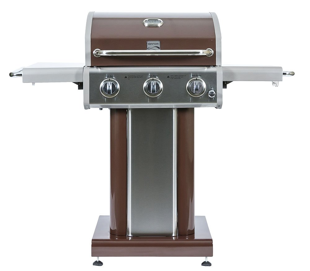 Kenmore 3 Burner Outdoor Patio Gas BBQ Propane Grill in, Mocha by Kenmore