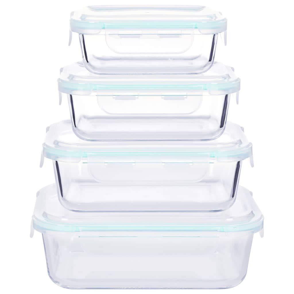 Festnight Contenedor de Almacenamiento de Alimentos de Vidrio con Tapa Recipientes para Guardar Comida 4 unidades Vidrio