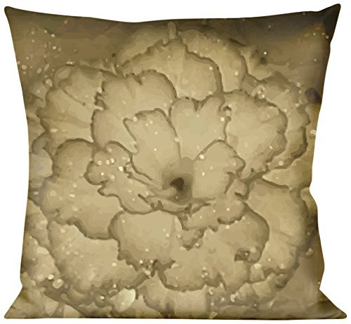 Buckle Down Vivid Floral Collage2 Sepia Throw Pillow, Multicolor [並行輸入品] B07RDX22X7