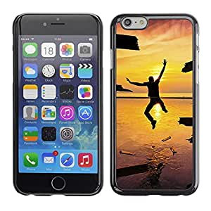 LECELL -- Funda protectora / Cubierta / Piel For Apple iPhone 6 -- Design Jump Happiness Sunset --