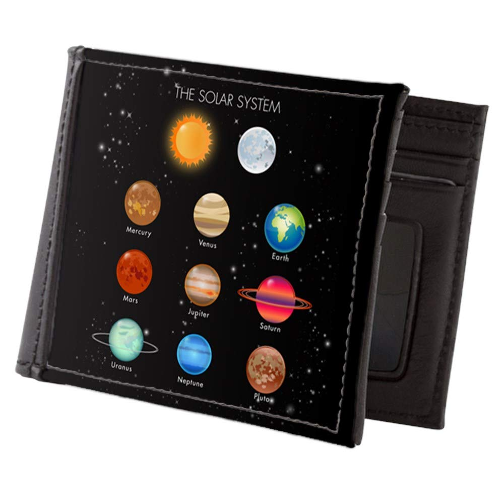 Royal Lion Mens Wallet Billfold Solar System Sun Moon and Planets