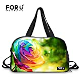 FOR U DESIGNS Colorful Floral Bag Lightweight Travel Bag Duffel Bag College Bag for Girls