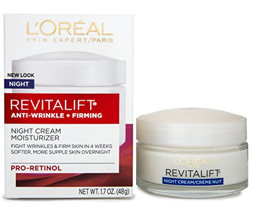 L'Oreal Paris, RevitaLift Anti-Wrinkle + Firming Night Cream Moisturizer 1.7 oz from L'Oreal Paris