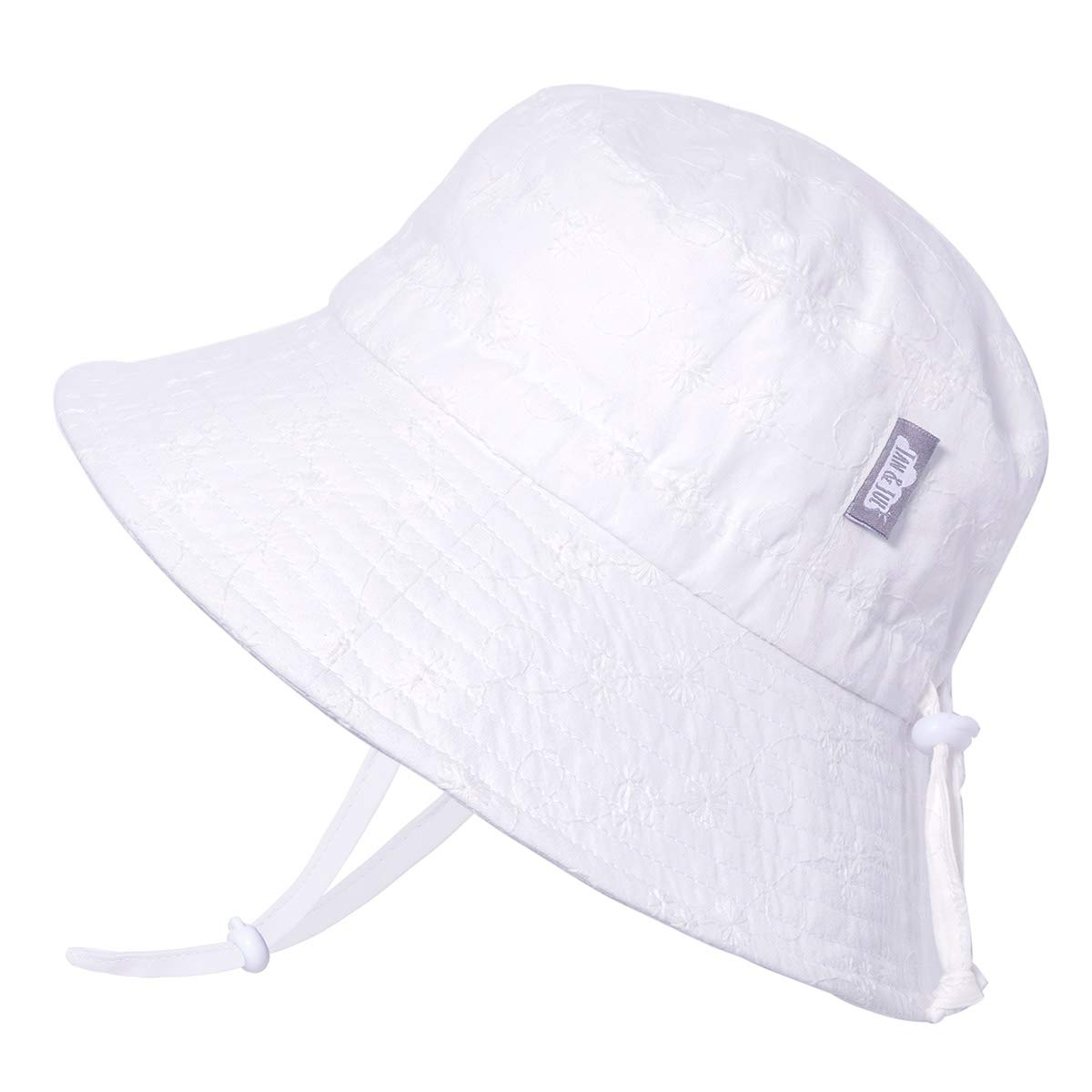 50+UPF Protection JAN /& JUL Kids Cotton Bucket Sun-Hat Adjustable Strap Baby Toddler Girls