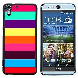 Stuss Case / Funda Carcasa protectora - Colorful Stripes Summer Beach - HTC Desire Eye M910x