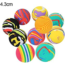 gainvictorlf Pet Supplies 10Pcs Pet Cats Kitten Colorful Ball Bite Chew Scratch Funny Playing Toys Teaser - Random Color 4.3cm