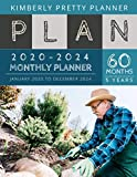 5 year monthly planner 2020-2024: 2020-2024 yearly