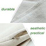 VOGOL Square Decorative Cotton Linen Throw Pillow