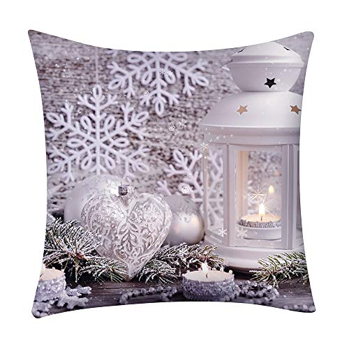 Wenini Christmas Pillow Cover Cushion Cover Decorative Polyester Throw Pillow Case for Sofa Couch Bed and Car Home Decor 18