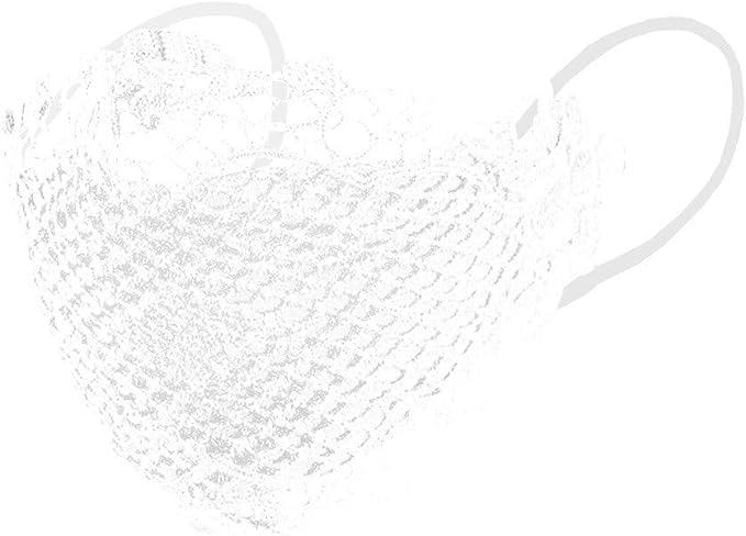 Staresen 5 Stück Mode Zarter Spitze Mundschutz Waschbar Wiederverwendbare Einstellbarer Ohrbügel Sommer Outdoor Komfortabel Atmungsaktiv Bandanas Weichspitze Halbgesichtsschutz Für Frauen Männer Bekleidung