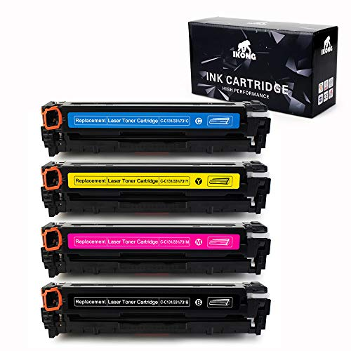 IKONG 4-Pack Compatible Toner Cartridge for Canon 131 High Capacity Works with Canon ImageClass MF8280CW, ImageClass MF628CW, ImageClass MF624CW, ImageClass LBP7110CW, ImageClass LBP-7100CN
