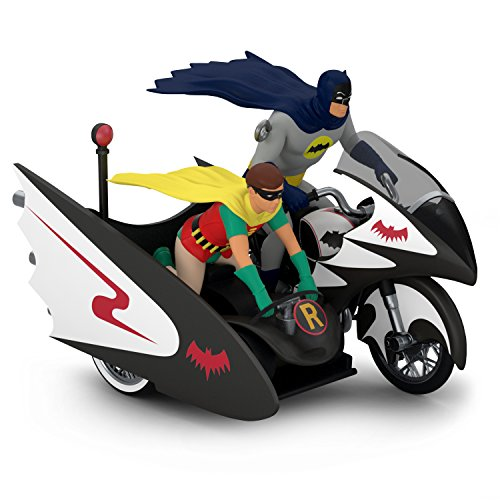 Hallmark Keepsake Christmas Ornament 2018 Year Dated, DC Comics Batman Classic TV Series Batcycle