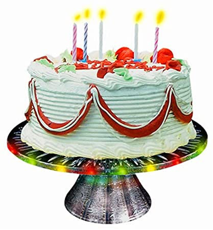 Amazon.com: Herbko Happy Birthday Singing Cake Plate: Toys & Games