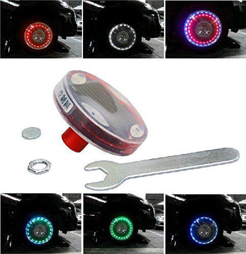 Sunnytech?つ? 4xSolar LED Car Auto Flash Wheel Tire Valve Caps Neon Light Decoration D148 by Sunnytech