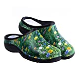 Waterproof Premium Garden Clogs With Arch Support-Meadow Design By Backdoorshoes, Meadow Design, Size